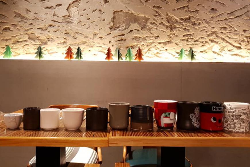 杯子是影響咖啡風味的關鍵。穆勒咖啡館提供